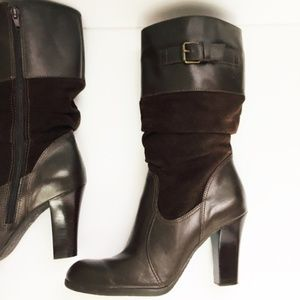 Connie brand....NEW mid-calf Leather Suede Boots